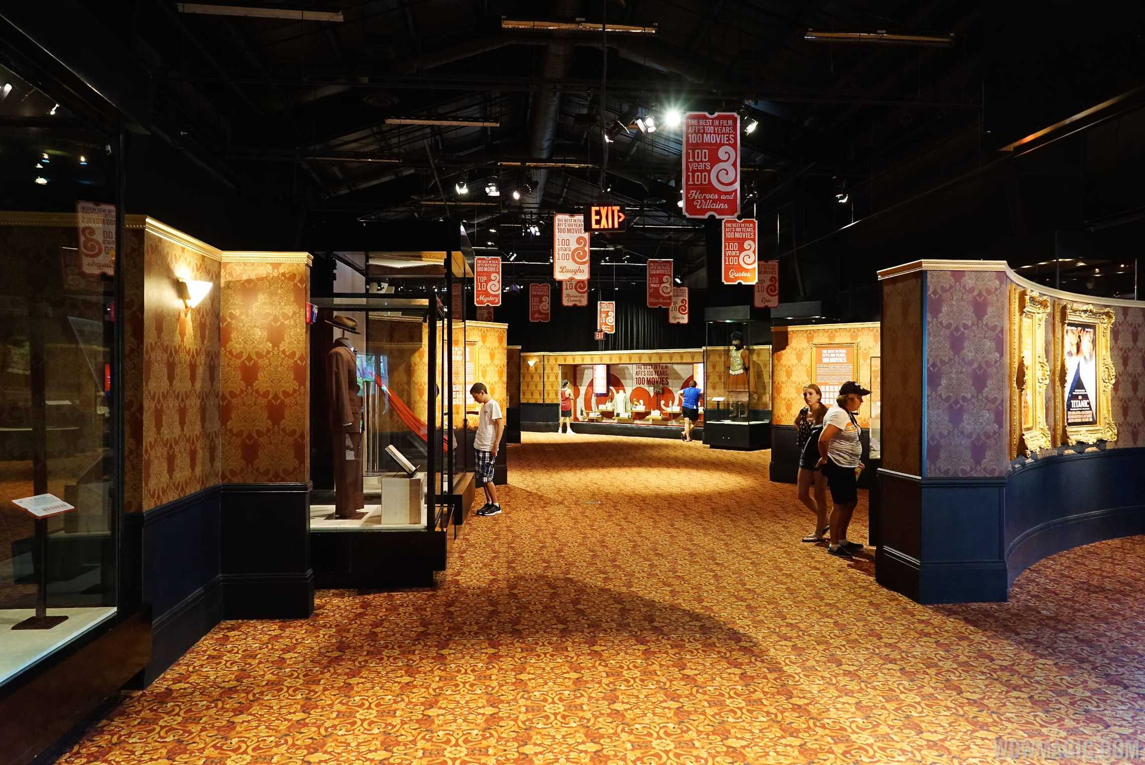 American Film Institute exhibit - View along the exhibit