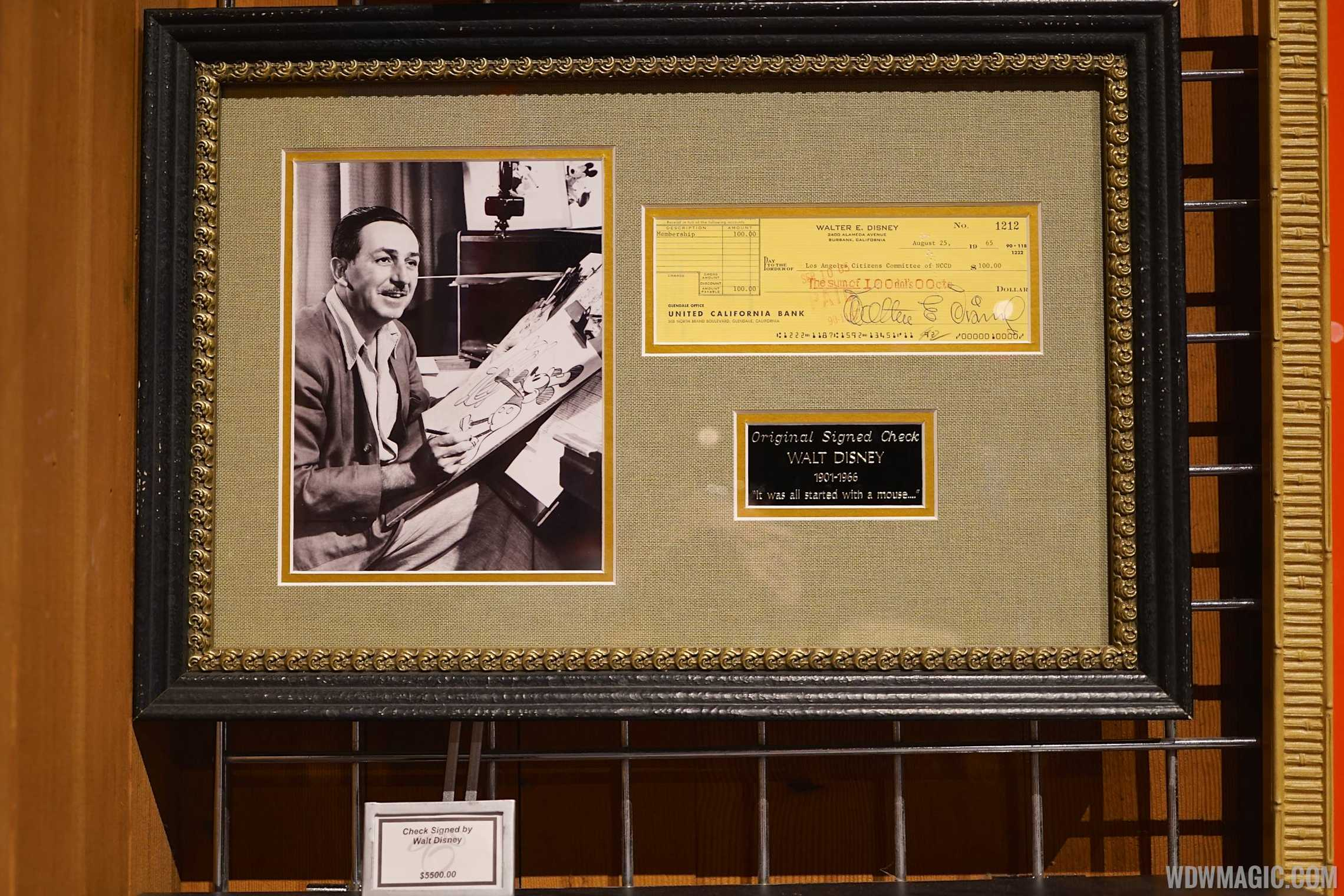 The Showcase Shop - Walt Disney autograph
