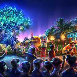 Nighttime entertainment at Disney's Animal Kingdom concept art
