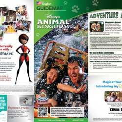 New Disney's Animal Kingdom Park Guide Map with Harambe Theater District addition