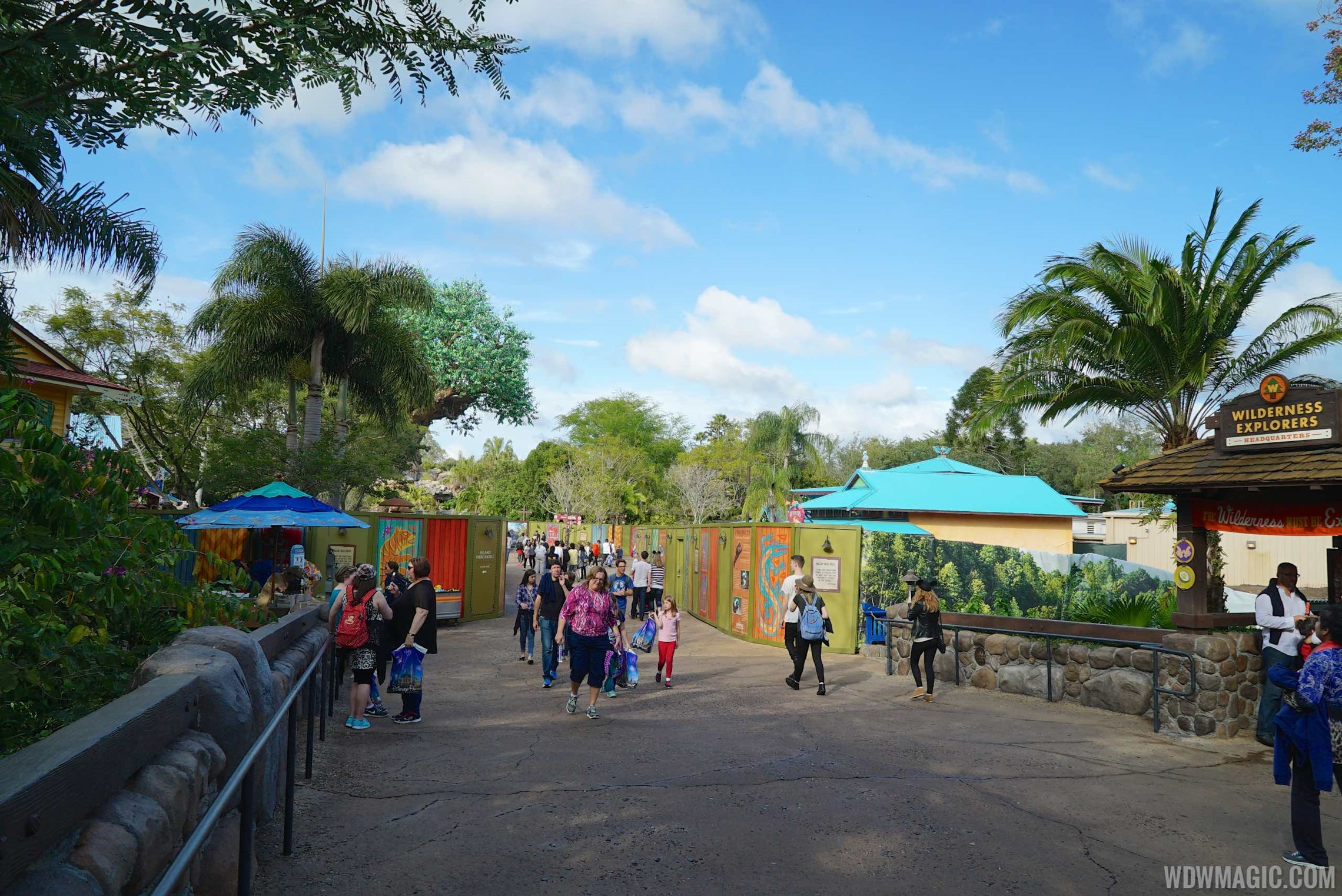 Discovery Island walkway expansion