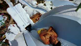 Poor weather has closed Blizzard Beach early today