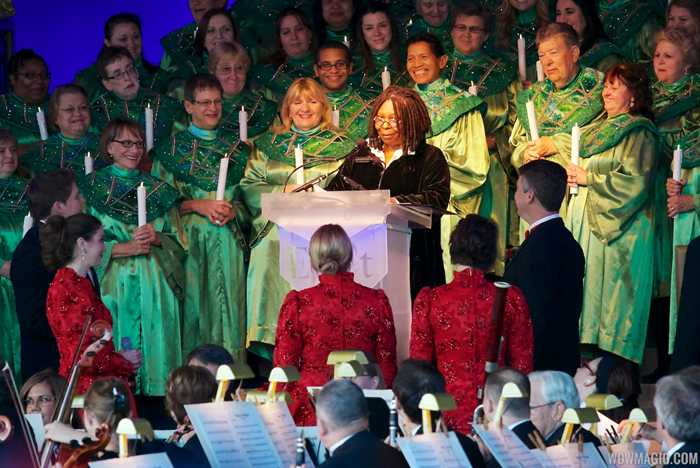 Whoopi Goldberg narrating Candlelight Processional 2012