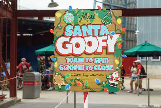 Santa Goofy meet and greet
