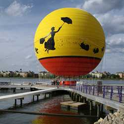 Characters in Flight construction - balloon inflated