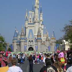 Cinderella Castle overlay construction underway