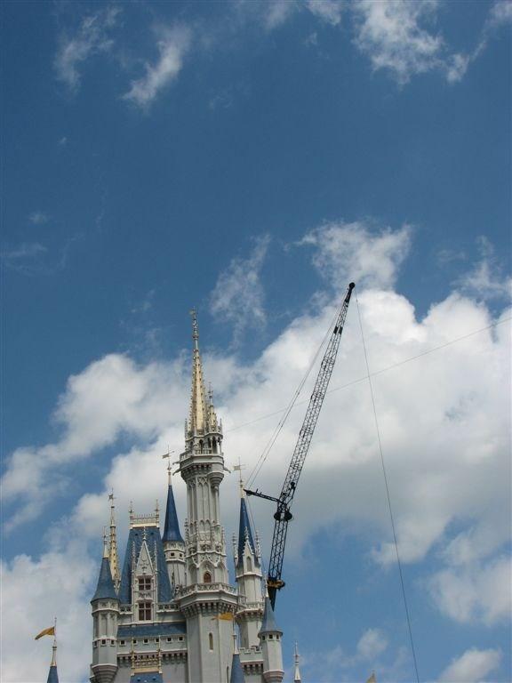 Cinderella Castle overlay removal