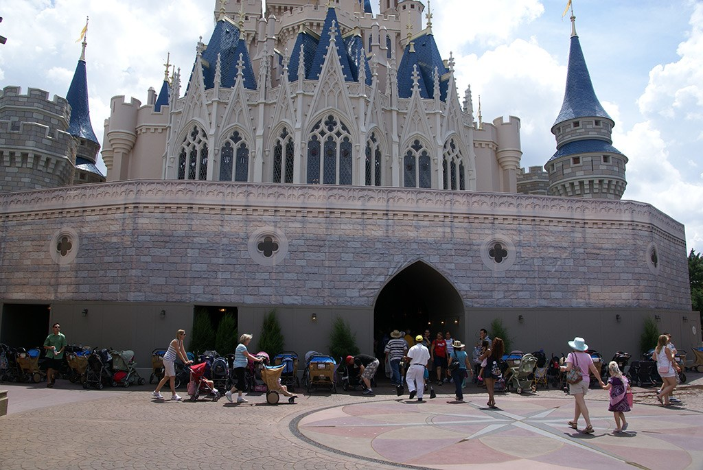 Cinderella Castle lower section refurbishment