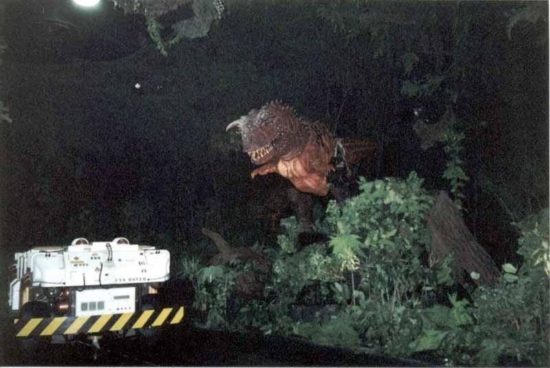 Dinosaur backstage