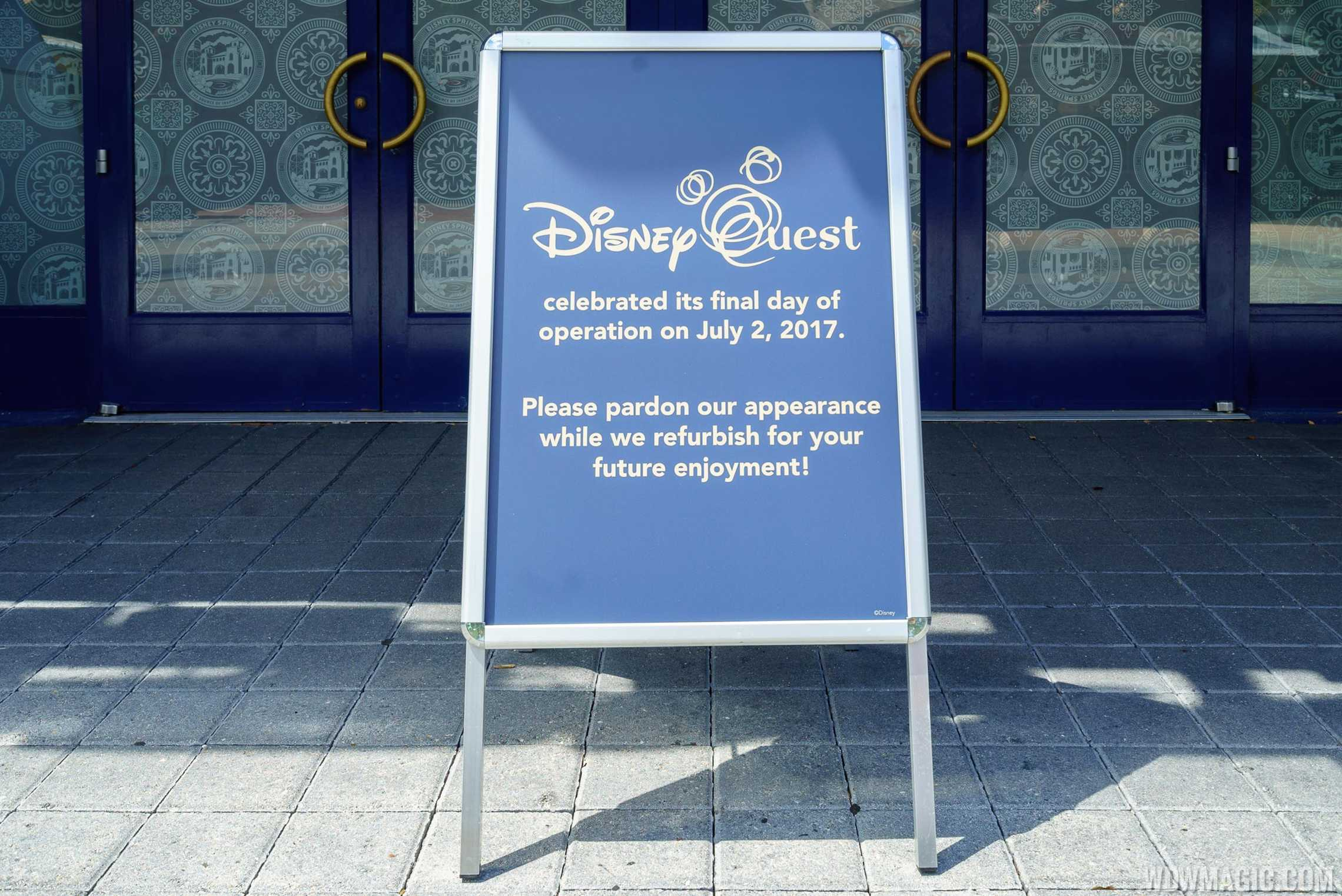 Closed Disney Quest