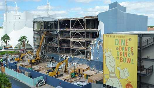 PHOTOS - Large scale demolition now in progress at the former Disney Quest