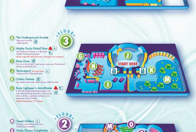 Disney Quest map