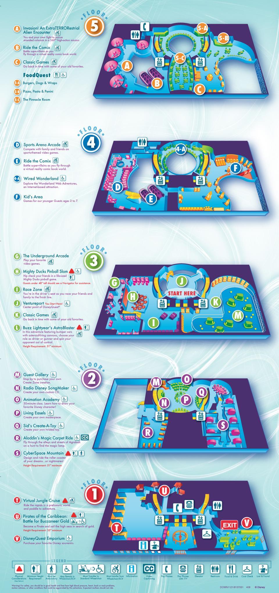 Disney Quest map  Photo 1 of 1