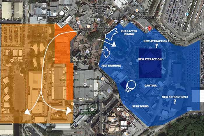 Star Wars Land and Toy Story Land possible locations