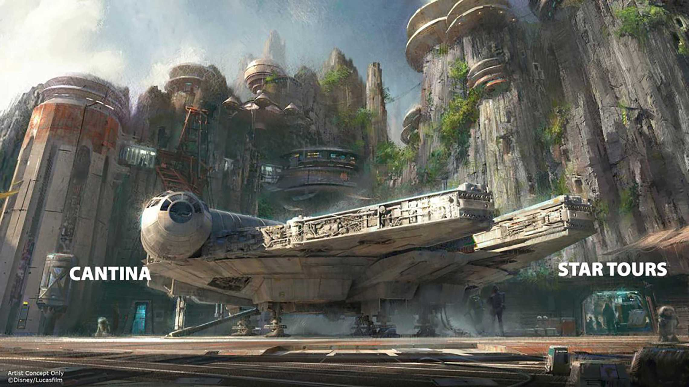 Possible attraction layout at Star Wars Land in Disney's Hollywood Studios. By Ignohippo.