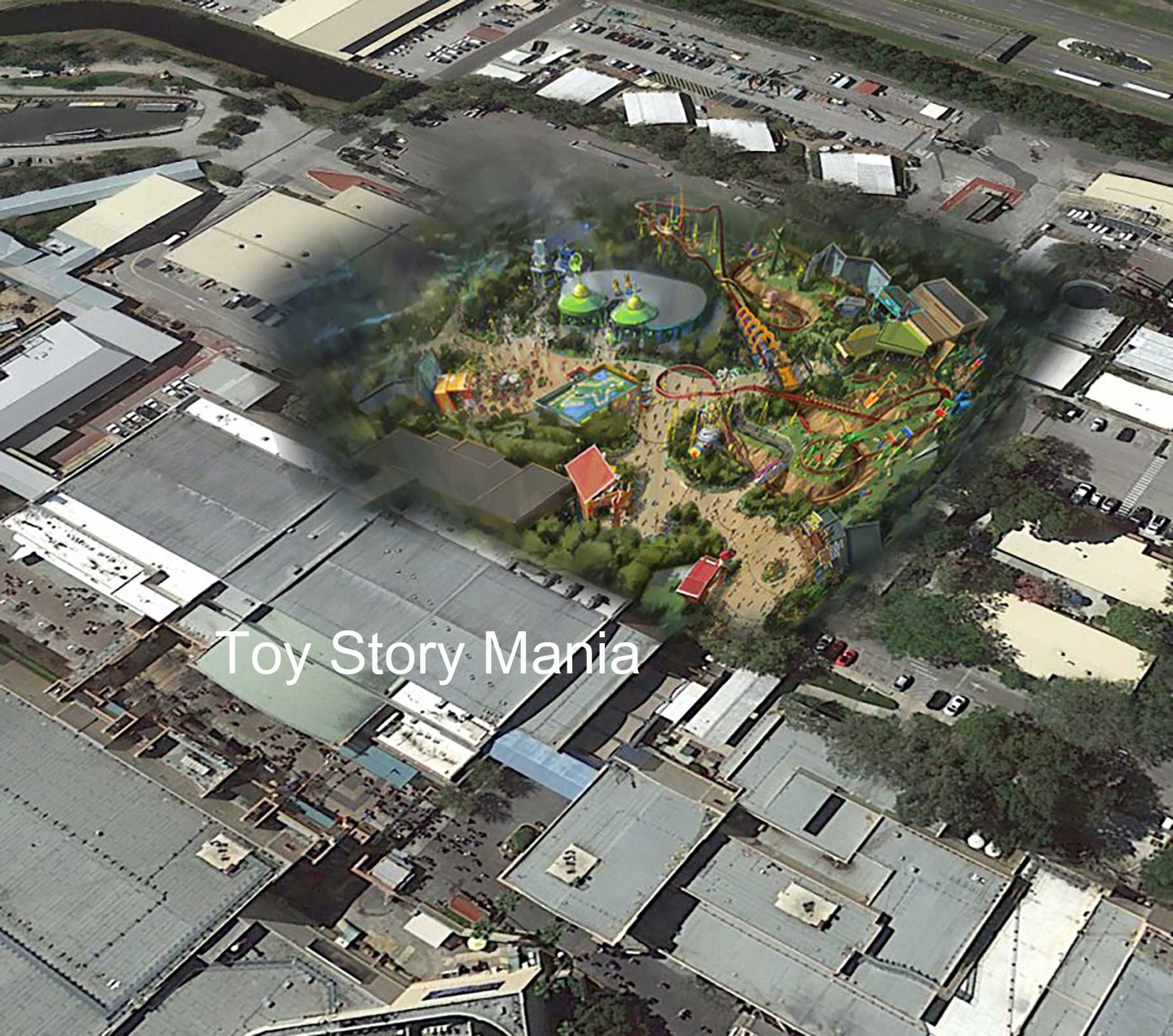 Possible location of Toy Story Land at Disney's Hollywood Studios. By Martin Smith