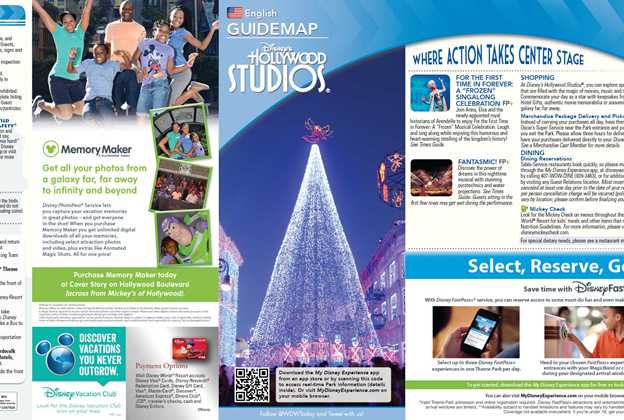 Disney's Hollywood Studios Guide Map December 2015