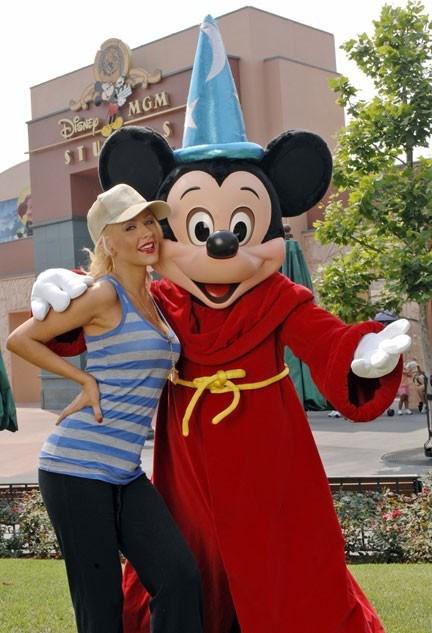 Christina Aguilera visits Disney-MGM Studios