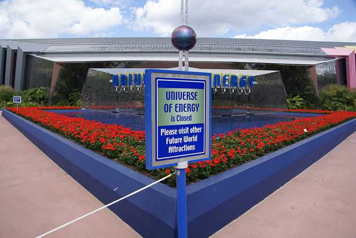 Ellen's Energy Adventure closed for refurbishment