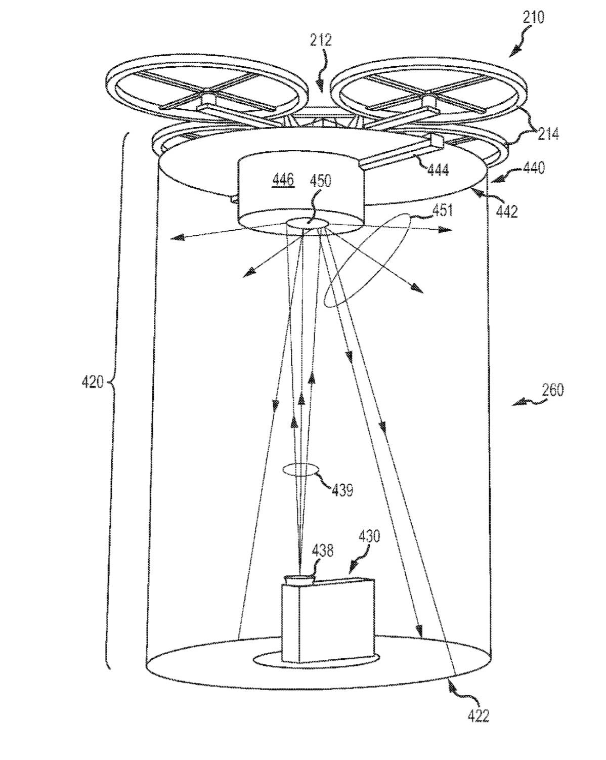 Drone Projection patent