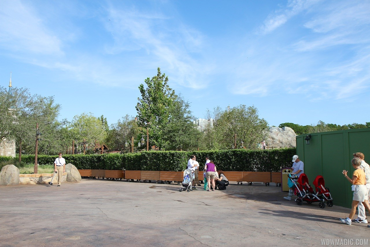 Walls down at Enchanted Forest entrance
