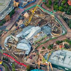Aerial views of new Fantasyland