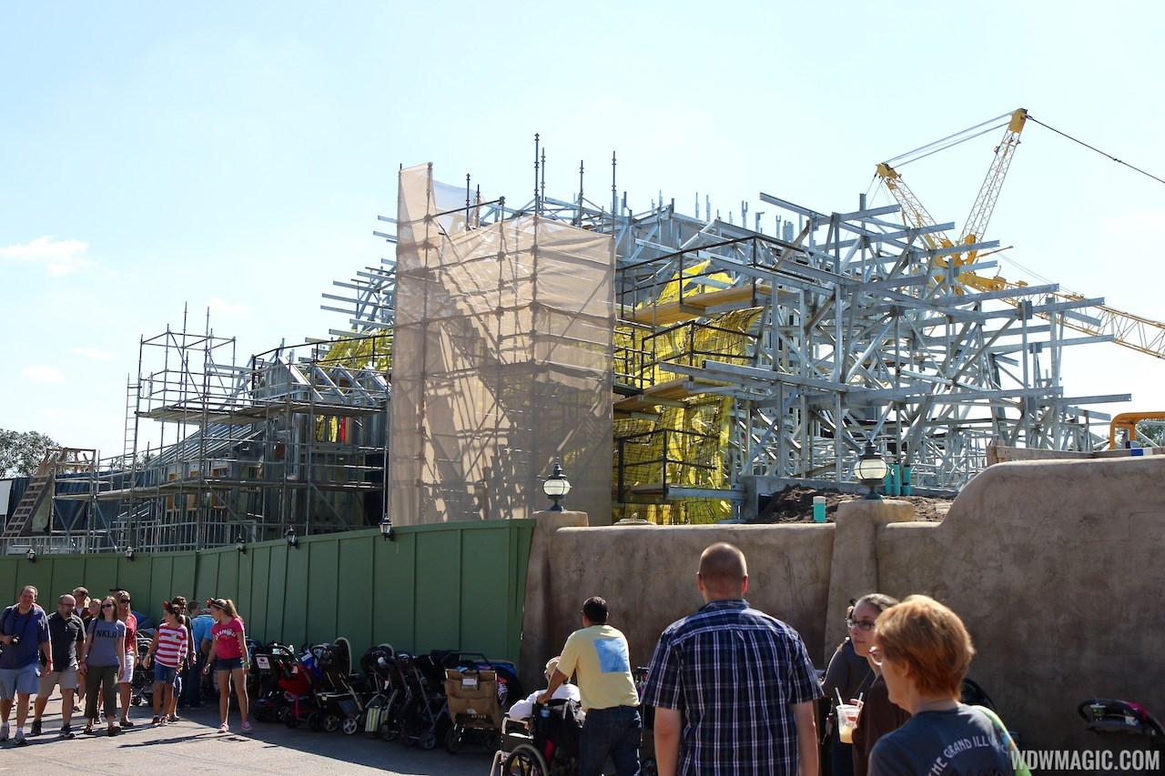 Seven Dwarfs Mine Train coaster construction