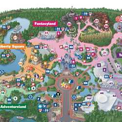 New Fantasyland on the Magic Kingdom guide map