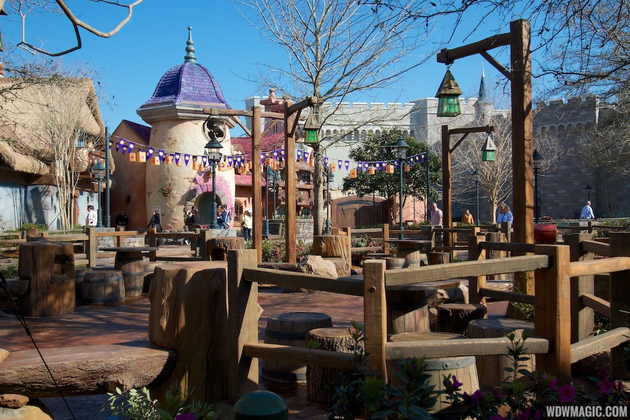 Tangled restroom area opening day