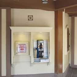 Peter Pan area restrooms now closed