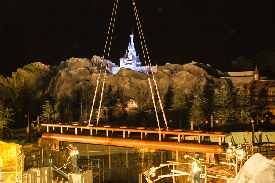 Seven Dwarfs Mine Train coaster track completion