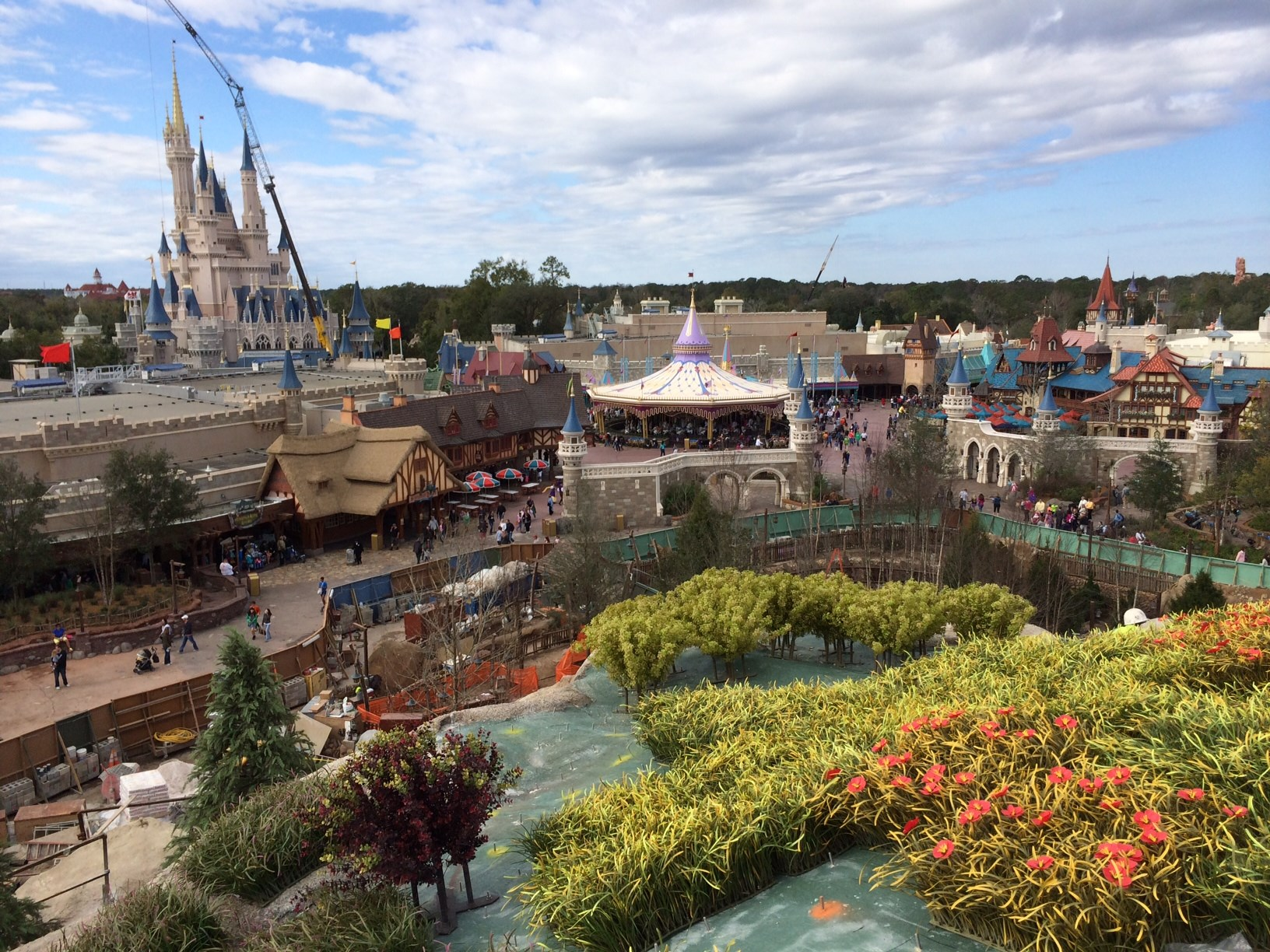 View from the top of the Seven Dwarfs Mine Train