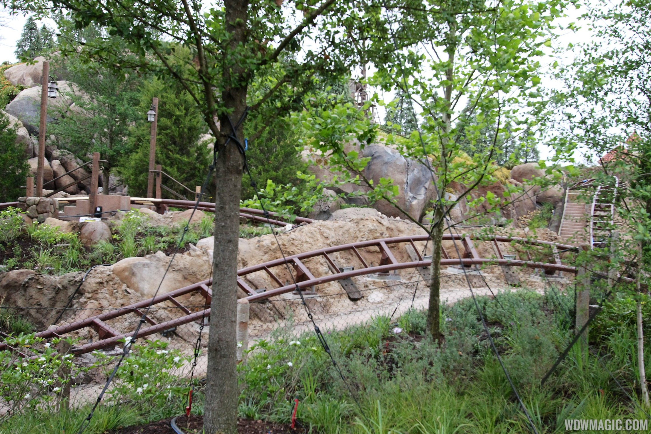 Seven Dwarfs Mine Train coaster more walls down