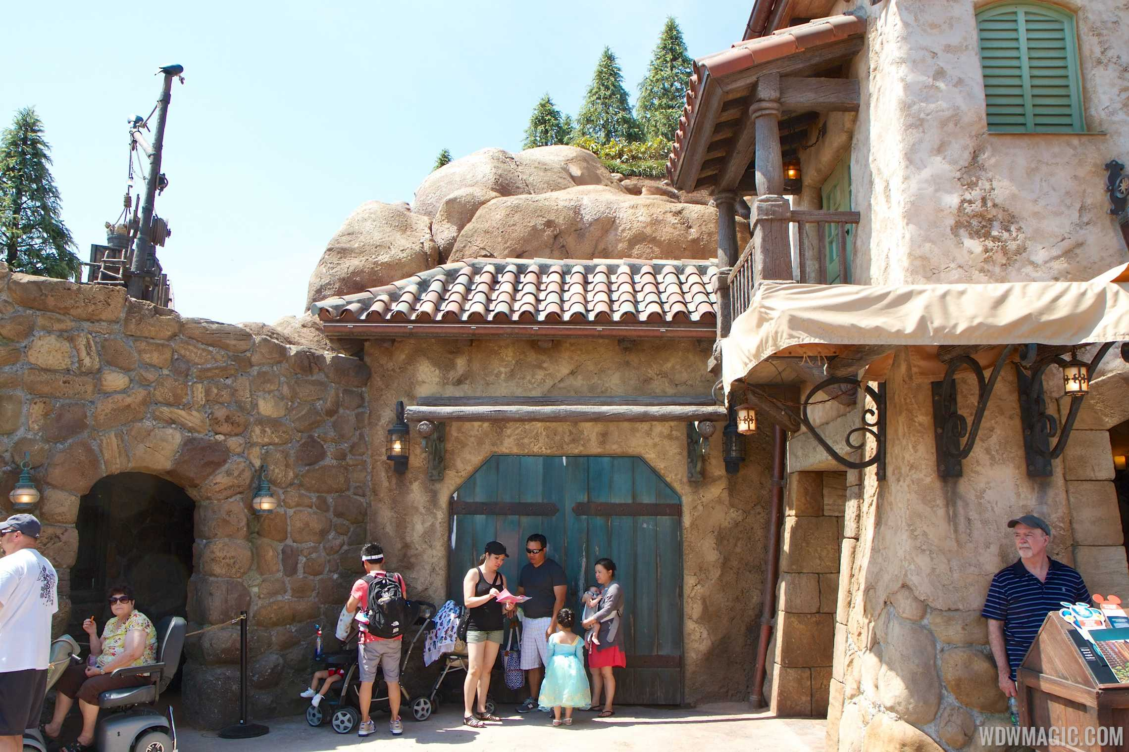 Seven Dwarfs Mine Train rear