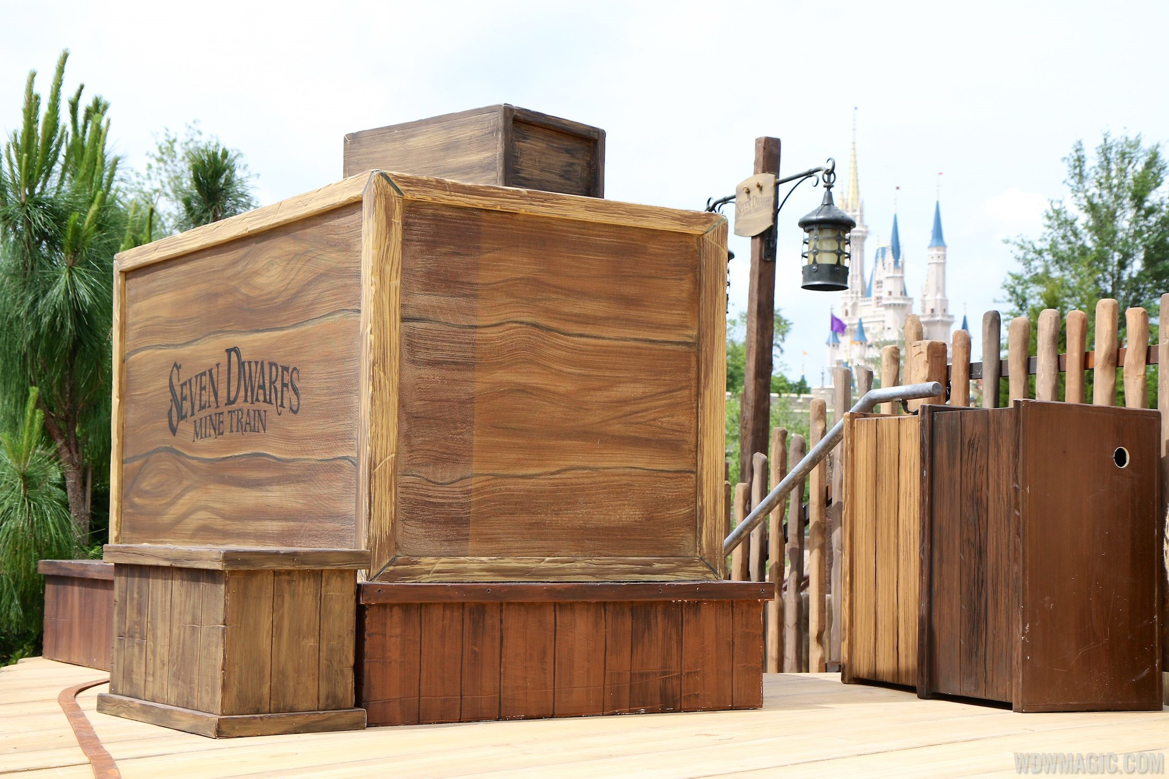 Seven Dwarfs Mine Train dedication ceremony stage setup
