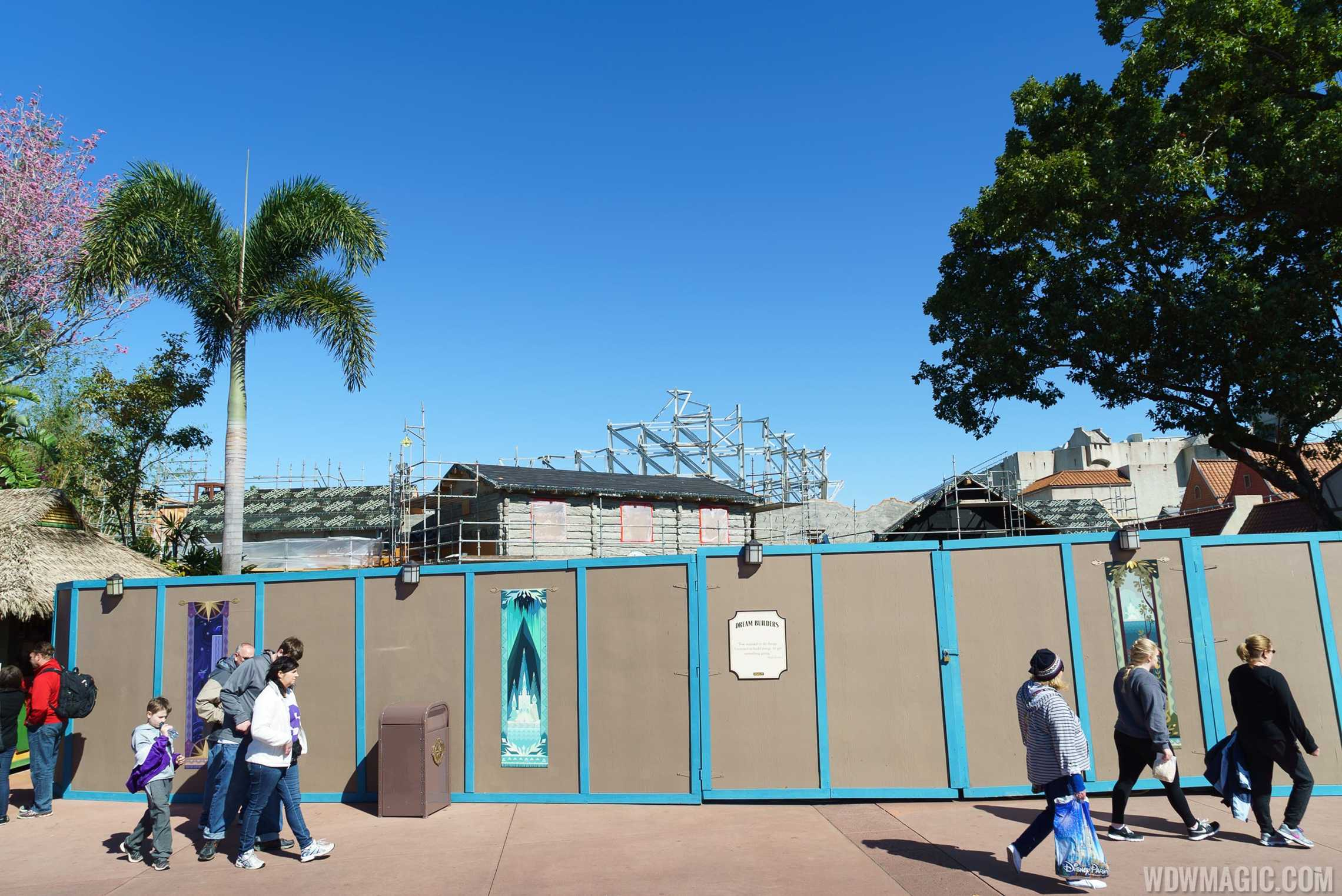 Royal Sommerhus Frozen meet and greet construction