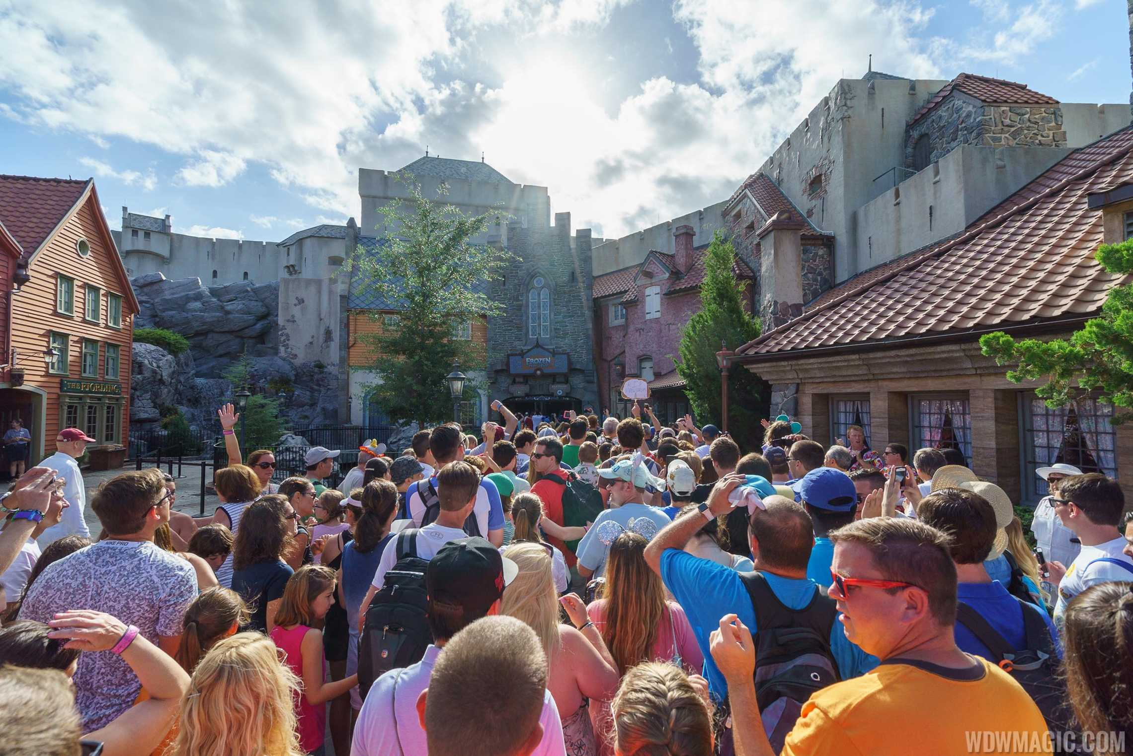 The opening of Frozen Ever After did not boost Epcot's guest numbers