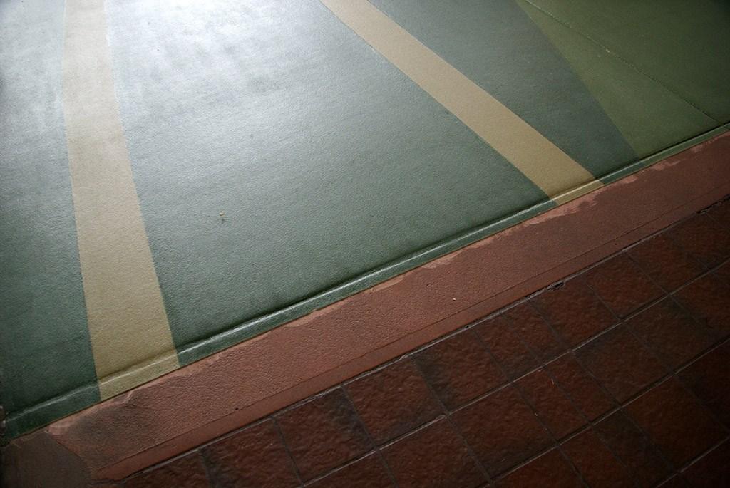 New flooring in breezeway
