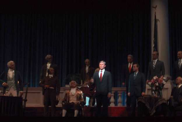President Bush in the new Hall of Presidents