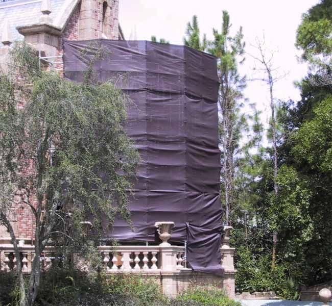 Haunted Mansion exterior refurbishment photos