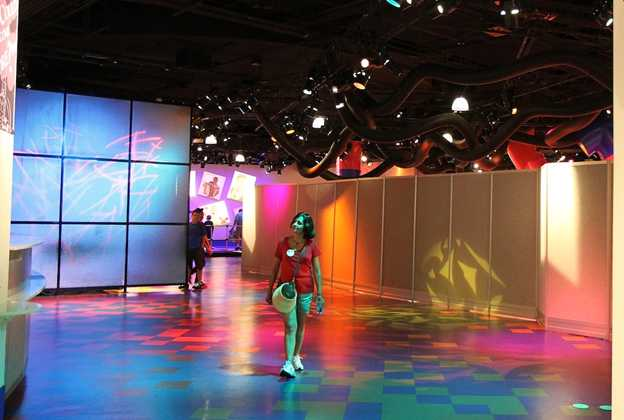 Imagination! post-show area construction walls