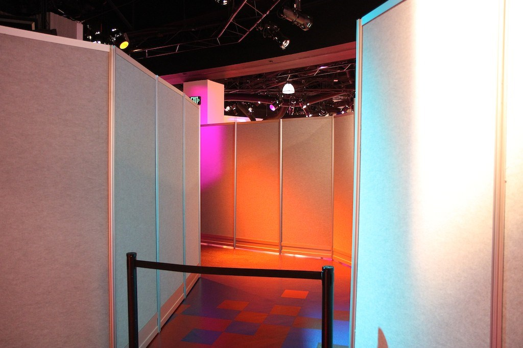 Imagination! post-show area construction walls
