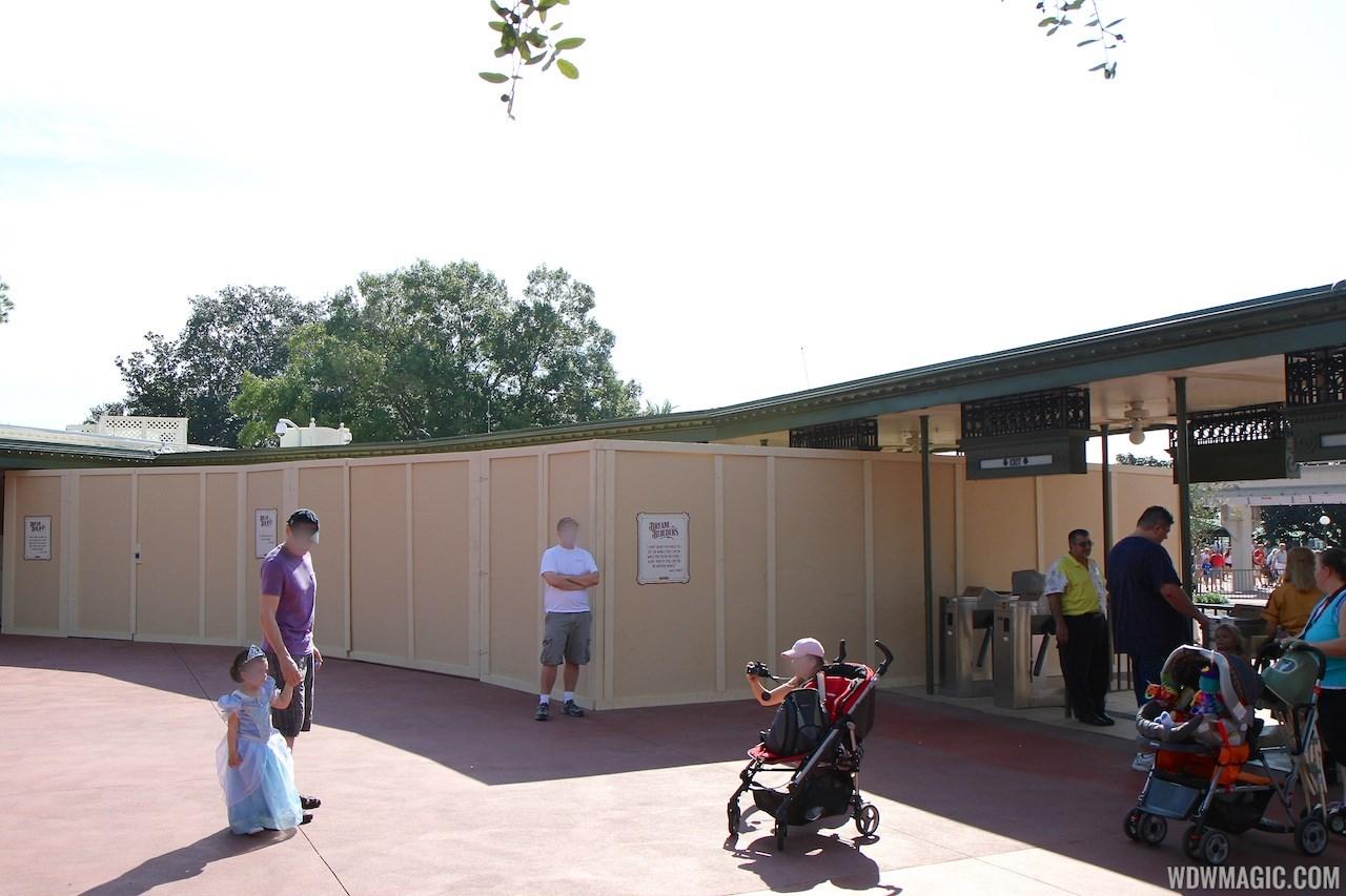 Magic Kingdom turnstile area construction - RFID