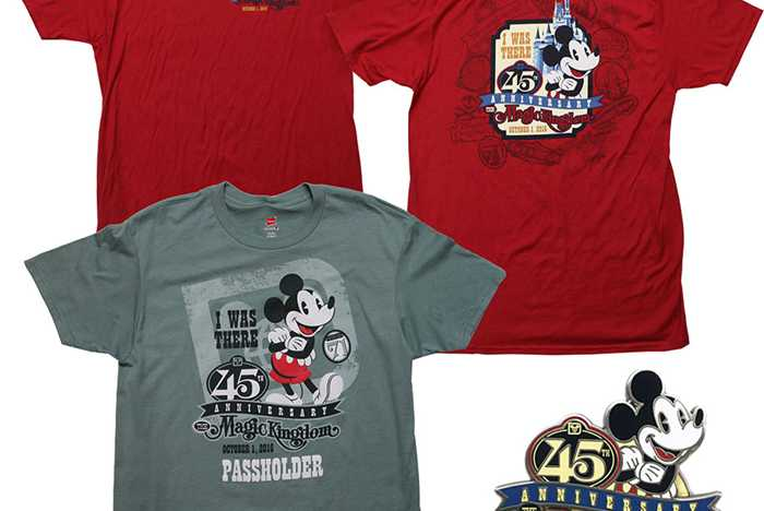 Magic Kingdom 45th Anniversary merchandise