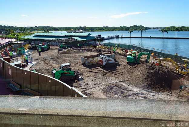 Magic Kingdom Ferry dock area construction
