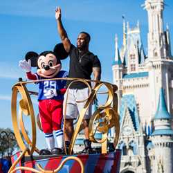 James White in Super Bowl parade at the Magic Kingdom