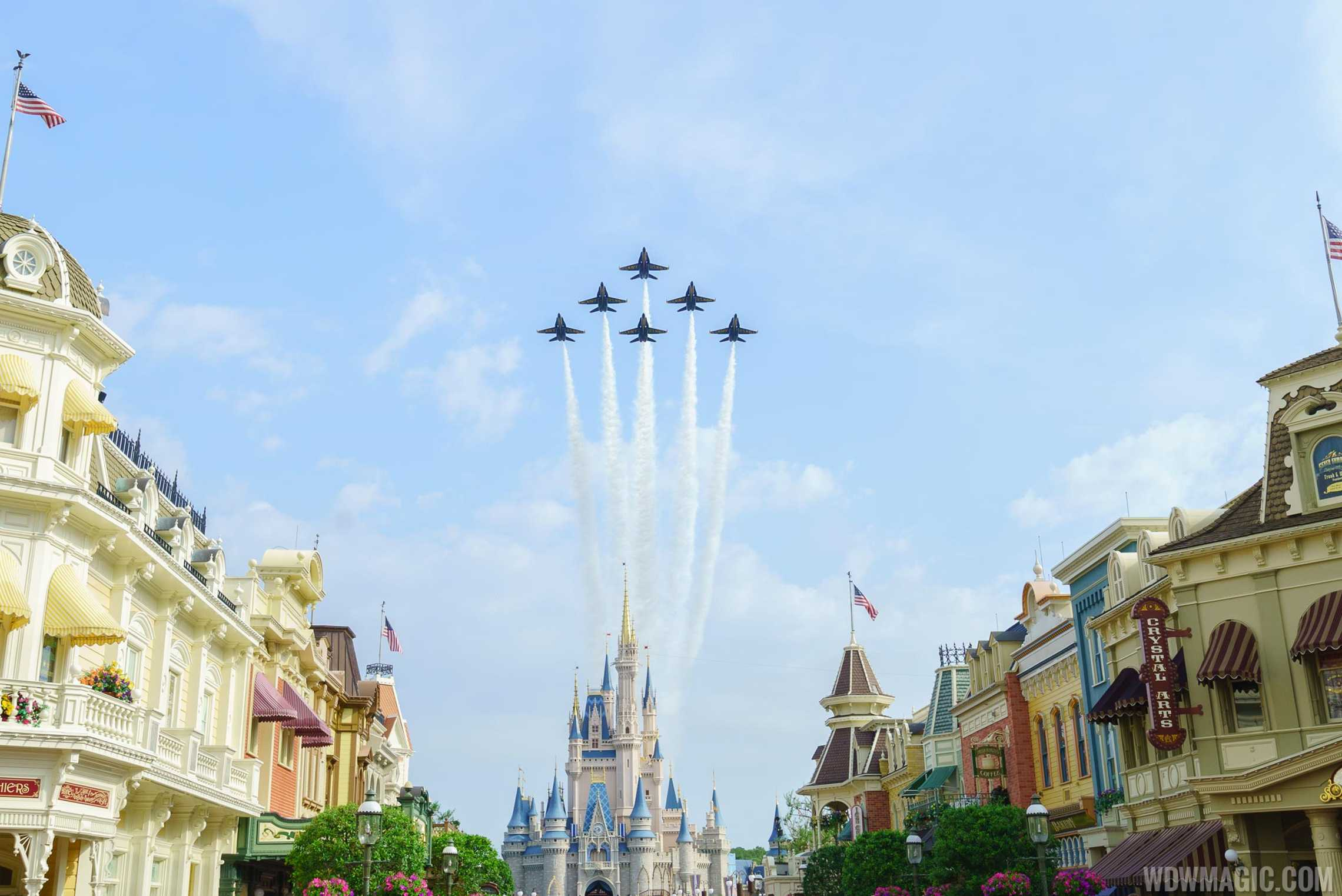 Blue Angels Cinderella Castle Flyover