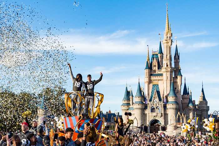 UCF Knights Football Team Celebrated in Parade at Walt Disney World Resort