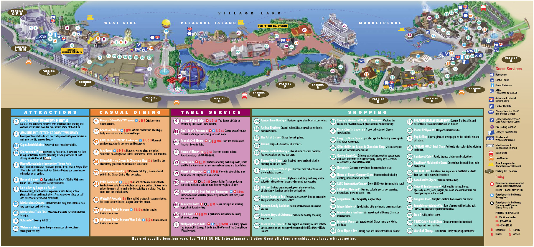 New Downtown Disney guide map 1 of 1