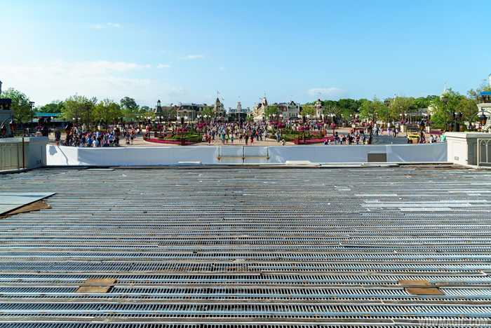 Cinderella Castle stage construction for Mickey's Royal Friendship Faire